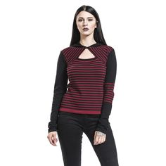 "Maglione donna ""Knit Asymetric Hoodie"" del brand #PussyDeluxe."