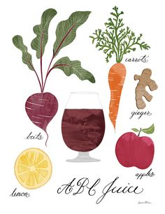 ABC (Apple Carrot Beet) Juice recipe illustration
