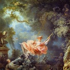 Summer color palette inspired by Rococo painting -- Jean Honoré Fragonard (1732~1806)