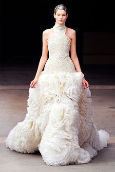Alexander McQueen Fall 2011 Cream Wedding Dress