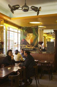 Café des Deux Moulins ~ the cafe in Montmartre where Amelie was filmed~ http://www.foodandwine.com/restaurants/cafe-des-deux-moulins-paris