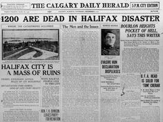 halifax explosion - Google Search Halifax Explosion, I Am Canadian, The Mont, Biographies, Nova Scotia, Wwi, Titanic, Newspaper