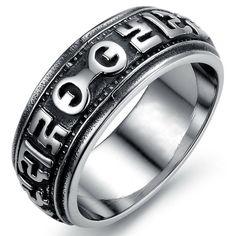 Stainless Steel Heavy Ring Титановые Кольца, Мода Черный, Мужская Мода,  Модные Кольца, ca5d6578697