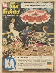 Image result for 1959 patio Furniture Ads, Living Furniture, Outside Living, Go Outside, Vintage Ads, Vintage Posters, Vintage Outdoor Furniture, Australian Vintage, Patio Accessories