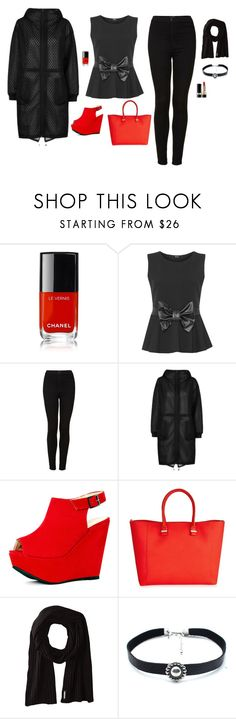"""Untitled #792"" by alex-gucka ❤ liked on Polyvore featuring Chanel, WearAll, Topshop, Victoria Beckham, Soia & Kyo, Child Of Wild and Dolce&Gabbana"