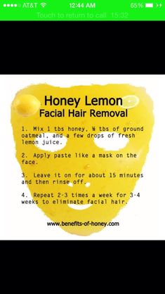 Remove Those Pesky Facial Hair With This Simple Natural Remedy! DIY #Beauty #Trusper #Tip