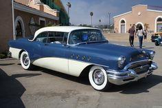 1955 Buick Roadmaster | 1955 Buick Roadmaster 2d htp - blue white - fvr