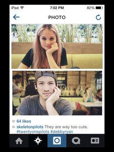 Totes cute. #twentyonepilots Stay Street Stay alive. Josh Dun and Debby Ryan