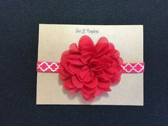 Red Chiffon Flower headband just in time for Valentine's Day!