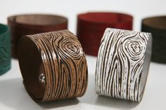 With an interesting and beautiful earthy texture this unique and very cool unisex laser engraved leather cuff is great for everyday wear.  $25