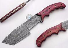 "11.50"" Custom Hand Made Beautiful Damascus Steel Tracker Knife (AA-0161-33) #UltimateWarrior"