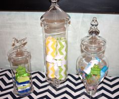 Apothecary Jars - Great Idea For A Baby Shower Centerpiece
