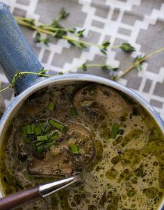 NEW Instant Pot Recipe: Nourishing Mushroom Soup! On the blog now! #Dairyfree #Paleo #Glutenfree Whatcha waiting for??! #Pressurecooker #Instantpot #Instapot #Mushrooms #Soup #Recipe #Bonebroth