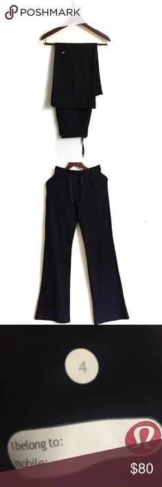 Lululemon Wide Pants ▫️Style Name: Lululemon Still Pant ▫️Properties: Four-way stretch, moisture wicking, preshrunk, chafe resistant, breathable ▫️Rise: Medium ▫️Leg: Flare ▫️Small amount of lint  ▫️Lululemon Pants in Great Preowned Condition 🚫No Trades🚫 lululemon athletica Pants