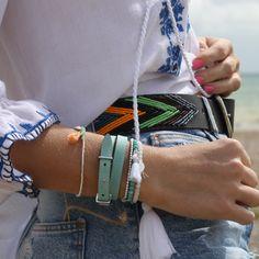 Boho Beach Style, Aspiga Beaded Belt & Boho Betty Shi Cheng Bracelet Stack Boho Beach Style, Bb, Bracelet, Photo And Video, Accessories, Instagram, Fashion, Moda, Fashion Styles