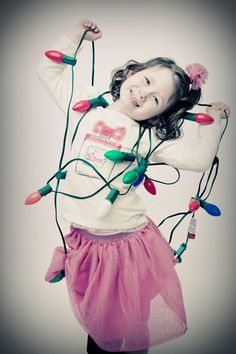 Cute Christmas card photo. If only I were still a kid...