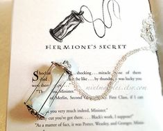 Hermione's Time Turner Necklace. Hourglass Pendant. by MintMarbles