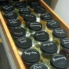 How to Organize Spices {organize}