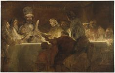 The Conspiracy of Claudius Civilis is a 1661–62 oil painting by the Dutch painter Rembrandt, National Museum in Stockholm, Sweden.