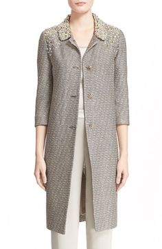 Free shipping and returns on St. John Collection Hand Beaded Bauble Knit Topper at Nordstrom.com. Hand-placed paillettes and beads provide a sparkling start to a notch-collar knit coat finished with crystal-encrusted buttons and flecks of metallic shimmer.