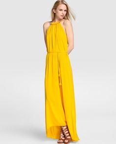 Vestido de fiesta de mujer Elogy en color amarillo