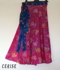 Indian Silk-Blend Reversible Wrap around Boho Skirts Plus Size Fits 20 22 24 26 | eBay