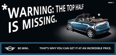 MINI AD: WARNING THE TOP IS MISSING