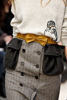 Bird Sweater, bow belt