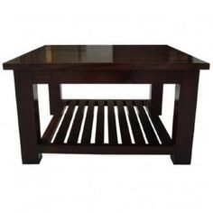 Dakota Long John Coffee Table with 2 Cubes Dark Shade