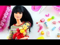 Cómo hacer un bebé con papel higiénico para tu Barbie - Manualidades para muñecas - YouTube