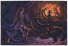 The little mermaid concept art. Interesting; very different from the final concept.