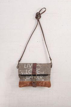 MONA B Live Love Wander Fold Over Cross Body Messenger Bag  #MonaB #MessengerCrossBody