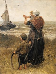 Bernardus Johannes Blommers Dutch Painter (1845-1914)