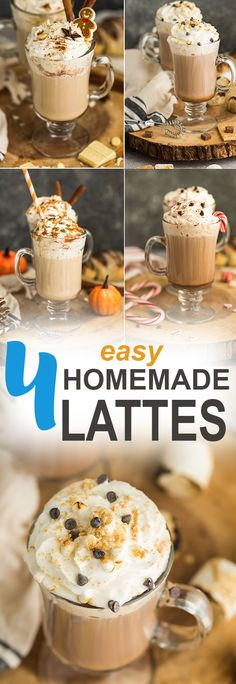 Homemade Latte Four Ways – enjoy these coffeehouse drinks at home. Best of all, these popular favorites are so easy to make! Pumpkin Spice Caramel Latte, Toasted Marshmallow Mocha Latte, Peppermint Crunch Mocha Latte and Gingerbread Latte. Save money by making them at home with your Keurig K-Select brewer, plus it's the perfect solution when you don't feel like heading out to the local coffee shop.  @keurig #AD #nationalcoffeeday #coffee