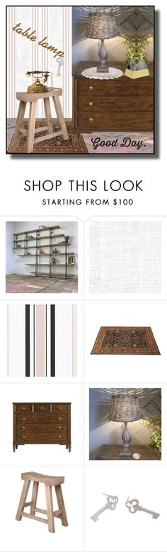 """""""Table Lamp"""" by din-sesantadue ❤ liked on Polyvore featuring interior, interiors, interior design, home, home decor, interior decorating, Urban Grain, Osborne & Little, Stanley Furniture and Jeffan"""