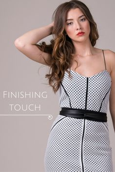 Add a finishing touch   Cocktail dress   Black wrap belt   One size belt   ADA Collection   Genuine leather