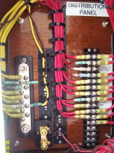 17 best boat wiring images on pinterest boat wiring boats and boating rh pinterest com Distribution Panel Diagram Power Distribution Panel