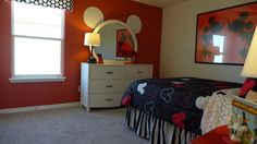 Mickey Mouse-Do for a Headboard instead..just need a circle headboard!!