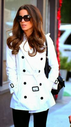White Trench Coat....would never be able to wear this a full day without getting dirty but I still love it.