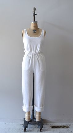vintage 1970s jumpsuit / terry cloth jumpsuit / Pierre Cardin jumpsuit