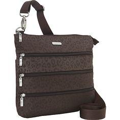 baggallini Big Zipper Bagg Cheetah ES - baggallini Fabric Handbags