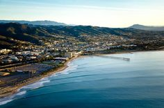 Ventura Beach, CA ...Check out those lines wrapping around the coast.  Nice rights.