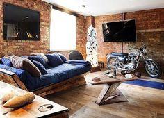 Sala com decoração rústica. #decor #decoracao #decoration #sala #rustic #boatarde