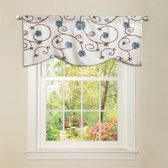 Lush Decor Blue 'Royal Garden' Valance | Overstock™ Shopping - Great Deals on Lush Decor Valances