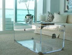 clear acrylic trunk coffee table Collection-Few Creative Ideas for Lucite Furniture Furniture, Acrylic Coffee Table, Table Design, Coffee Table Design, Apartment Living Room, Coffee Table Trunk, Lucite Furniture, Acrylic Furniture, Living Room Designs