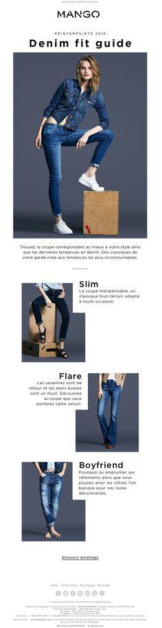 Guide des jeans : trouvez la coupe qui vous va le mieux l Mango Newsletter