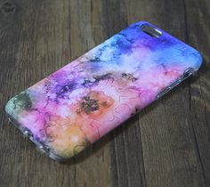 Nebula Galaxy Floral Protective iPhone 6s Case iPhone 6 plus S7 Edge SE Snap Case 3D 221