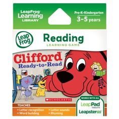 LeapFrog Scholastic: Clifford Learning Game for LeapPad Tablets and LeapsterGS