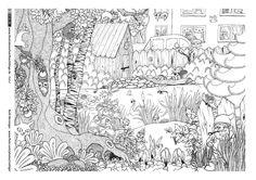 Garten Tiere Wimmelbild                                                       …