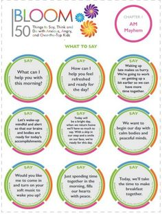 Mantras from Bloom helping anxious, angry, gifted and intense children.